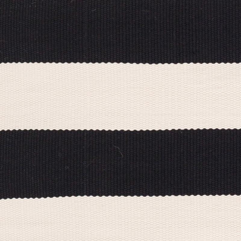 Catamaran Stripe Black Ivory Indoor Outdoor Rug Steal