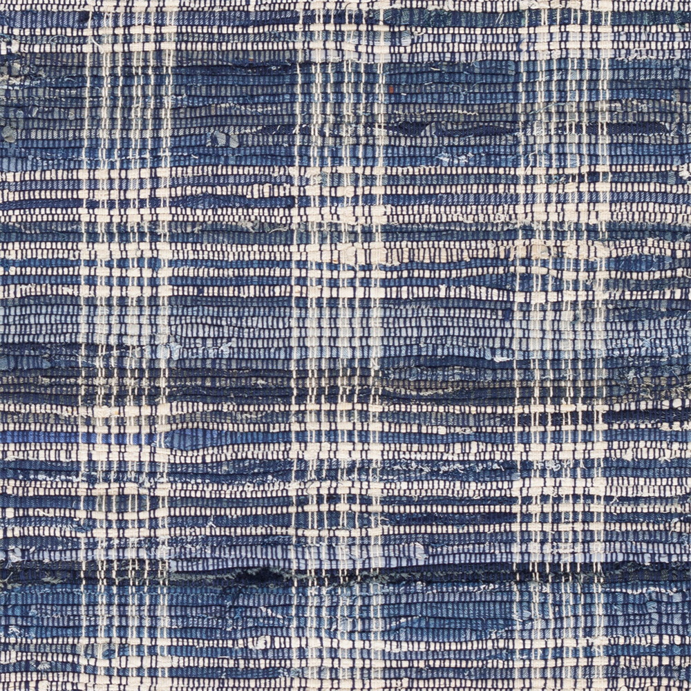 Denim Plaid Cotton Woven Rug Steal The Limelight
